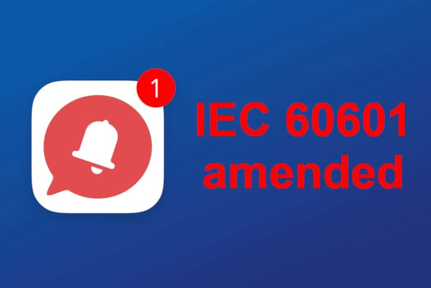 IEC 60601 just got amended